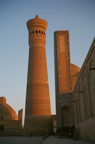 The Kalon Minaret. One of the few things Genghis Khan chose to spare on his rampage. The Bolsheviks, however, decided to bomb it.