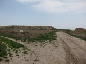 The unimpressive ruins of Otrar from a distance