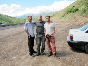 Arnaud and I with the taxi driver.