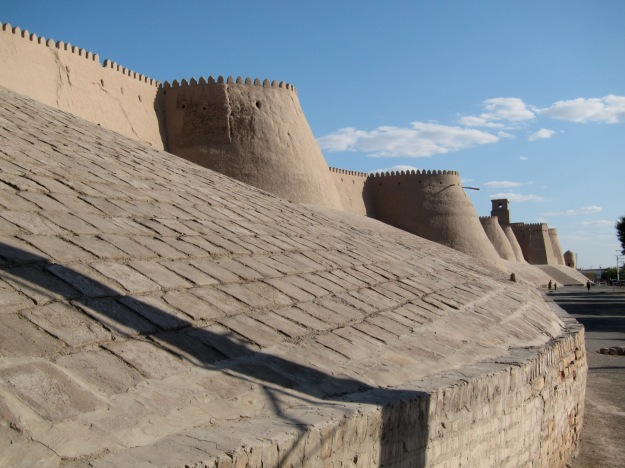 The fortress wall of Khiva.