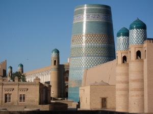 The beautiful, yet incomplete Kalon Minaret.