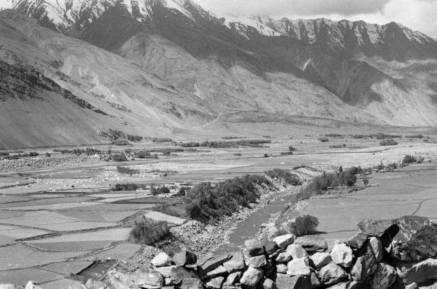 The view of the Wakhan Valley from the fortress walls. Afghanistan is across the river.