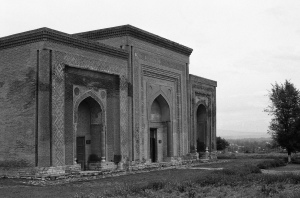 The 11th and 12th Century mausoleum built by the Karakhanid Dynasty for their leader, Nasr ibn Ali.
