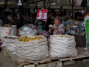 The market in Bazaar Korgon. You've gotta eat while you can!