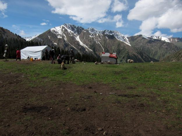 The nomadic encampment
